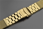 Mesh Bracelet Brushed 22mm IP Gold