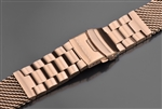 "ARAGON Mesh Bracelet Brushed 22mm IP Rose Gold  <inline style=""color: rgb(255,255,0);"">FREE US SHIPPING</inline>"