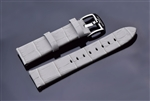 Leather Strap 22mm (Light Grey)