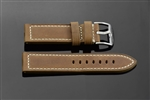 "Leather Strap  24mm Fit up to 8"" Wrist"