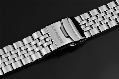 Five Pieces Link Bracelet 24mm  (Polished)