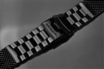 ARAGON Mesh Bracelet Polished 24mm (IP BLACK)-  FREE US SHIPPING
