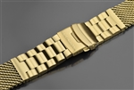 Mesh Bracelet Brushed 24mm IP Gold