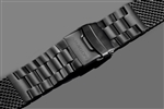 Mesh Bracelet Brushed 24mm (IP BLACK)