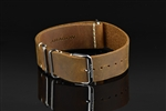 "Leather Nato Strap 24mm Fit up to 8"" Wrist"