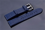 Leather Strap 24mm (Blue)