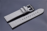 Leather Strap 24mm (Light Grey)