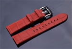 Leather Strap 24mm (Red)