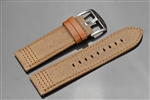 ARAGON 26mm Genuine Brown Leather Strap