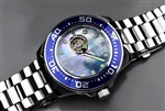 Japanese SII NH38A Open Heart Automatic Watch