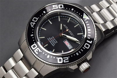 If you like tritium, here is the 45mm Aragon Divemaster Automatic A066BLK-2T