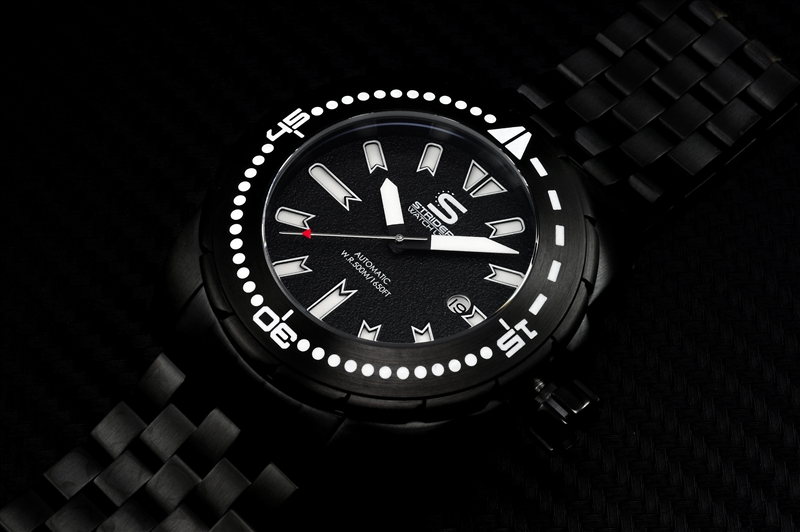 STRIDER Hyperdive Automatic Sapphire Crystal Watch Black IP Case and Dial -  ST001BKK